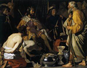 Solón, el jurista griego, ante el Rey Creso - Pintura